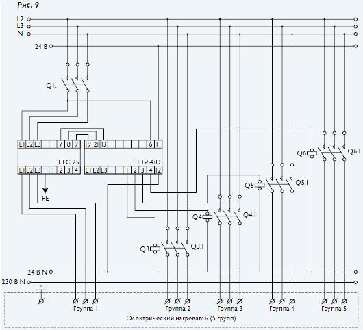 Симисторный трехфазный регулятор схема 852